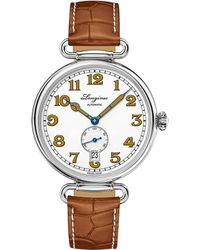Longines - L2.309.4.23.2 Heritage 1918 Stainless Steel And Alligator Watch - Lyst