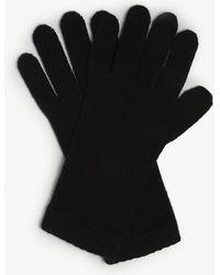 Johnstons Short Cuff Cashmere Gloves - Black