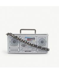 Moschino Boom Box Mini Leather Cross-body Bag - Multicolour