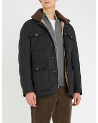 Brunello Cucinelli - Zip-up Wool And Cashmere-blend Cardigan - Lyst