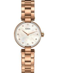 Rado - R22855923 Coupole Diamond Watch - Lyst