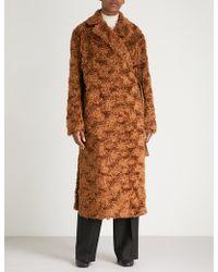 Jil Sander - Falkland Mohair And Cotton-blend Teddy Coat - Lyst