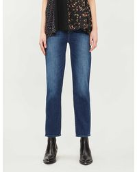 PAIGE Hoxton Skinny Stretch-denim Jeans - Blue