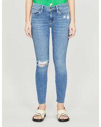 FRAME Le Skinny De Jeanne Mid-rise Skinny Jeans - Blue