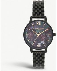 Olivia Burton - Ob16ad41 After Dark Black Ion-plated Stainless Steel Watch - Lyst