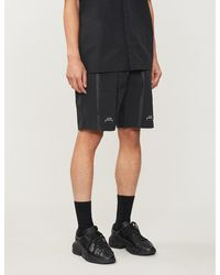 A_COLD_WALL* Relaxed-fit Straight Drawstring-waistband Shell Shorts - Black
