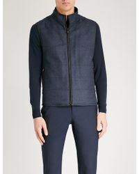 Corneliani - Reversible Wool And Suedette Gilet - Lyst