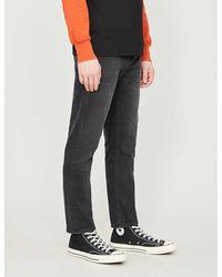 Acne Studios River Regular-fit Tapered Jeans - Black
