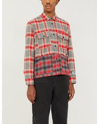 Reese Cooper Patchwork Cotton-flannel Shirt - Red