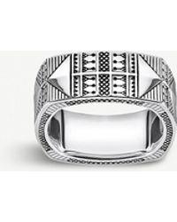 Thomas Sabo Engraved Silver Ring - Metallic