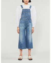 Citizens of Humanity Lizzie Wide-leg Denim Dungarees - Blue