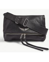 Zadig & Voltaire Rocky Leather Shoulder Bag - Black