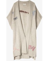 Zadig & Voltaire Indiany Tattoo Cashmere Cardigan - Natural
