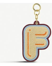 Chaos Initial F Chenille luggage Tag - Metallic