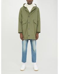 Sandro Faux-shearling Lined Cotton Parka Coat - Green