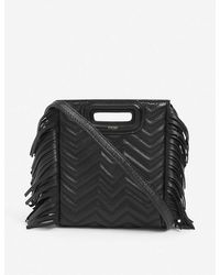 Maje Black M Quilted Leather Cross-body Bag 1 Size
