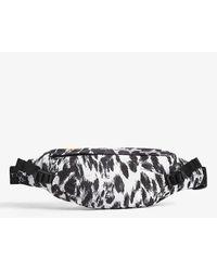 adidas By Stella McCartney Recycled Nylon Leopard Print Bumbag - Black