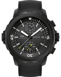 Iwc - Iw379502 Aquatimer Rubber-coating Stainless Steel Watch - Lyst