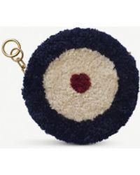 Chaos Target Shearling Mini Purse - Blue