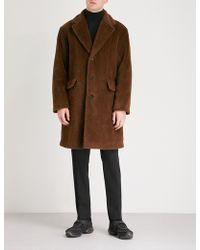 Prada - Alpaca And Cotton-blend Coat - Lyst
