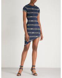 Philipp Plein - Striped Glittered Knitted Dress - Lyst