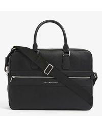 Tommy Hilfiger Th Modern Faux-leather Work Bag - Black
