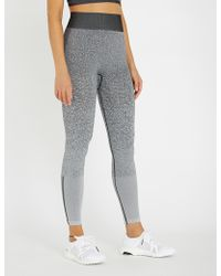 04699eb618aba adidas Originals Alphaskin Sport Jersey leggings in Red - Lyst