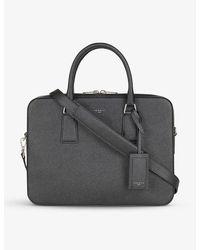 Sandro Saffiano Leather Briefcase - Black
