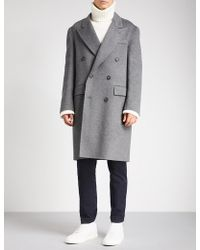 Brioni - Double-breasted Wool Coat - Lyst