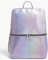 Skinnydip London - Purple Iridescent Faux Leather Backpack - Lyst