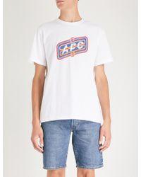 A.P.C. - Bastien Cotton-jersey T-shirt - Lyst