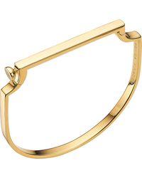 Monica Vinader Signature 18ct Gold-plated Vermeil Silver Bangle - Black
