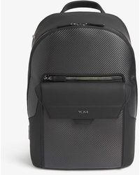 Tumi Marlow Leather-trimmed Backpack - Gray