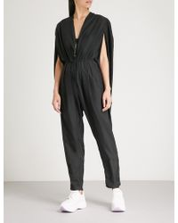 Vionnet - Cape-sleeve Shell Jumpsuit - Lyst
