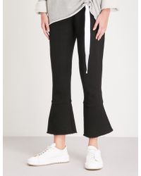 Stateside - Flared-cuff Straight Mid-rise Cotton-jersey Trousers - Lyst