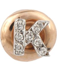 The Alkemistry - Kismet By Milka 14ct Rose-gold And Diamond K Initial Stud Earring - Lyst
