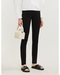 Claudie Pierlot Power Branded-patch Skinny High-rise Jeans - Black