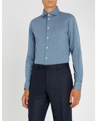 Richard James - Dotted Slim-fit Cotton-jersey Shirt - Lyst