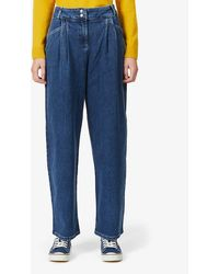 Benetton High-rise Relaxed Stretch-denim Jeans - Blue