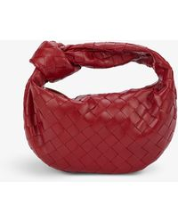 Bottega Veneta The Mini Jodie Intrecciato Leather Hobo Bag - Red