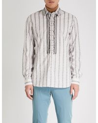 Prada - Stud-embellished Regular-fit Cotton Shirt - Lyst
