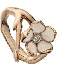 Shaun Leane - Sterling Silver Rose-gold Vermeil And Diamond Ring - Lyst