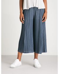 Pleats Please Issey Miyake - Mellow Pleats Wide-leg Cropped Pleated Trousers - Lyst