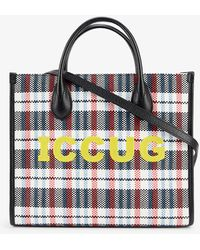 Gucci Iccug Canvas And Leather Tote Bag - Multicolour