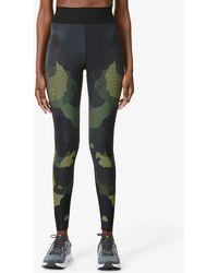 Ultracor Mesh Camo High-rise Stretch-jersey leggings - Green
