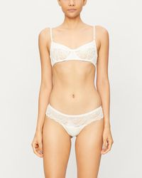 Heidi Klum Jasmine Fantasy Underwired Stretch-lace Bra - White