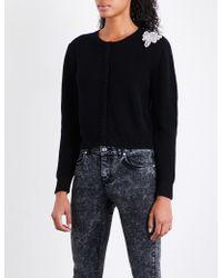 Claudie Pierlot | Embellished-detail Wool-knitted Cardigan | Lyst