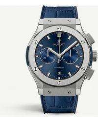 Hublot 541.nx.7170.lr Classic Fusion Blue Titanium And Leather Watch