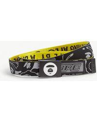 Aape Reversible Logo Belt - Yellow
