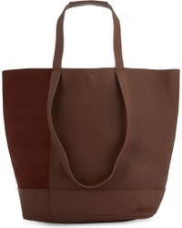 Whistles - Hampson Nubuck And Grained Leather Tote - Lyst